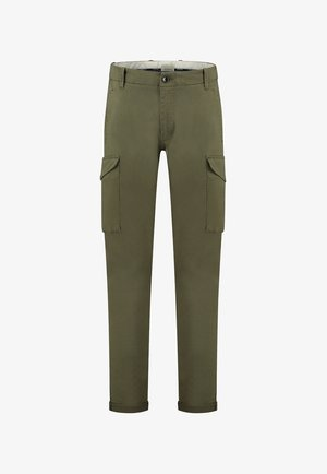 CONNERY STRETCH TWILL - Cargo trousers - army green