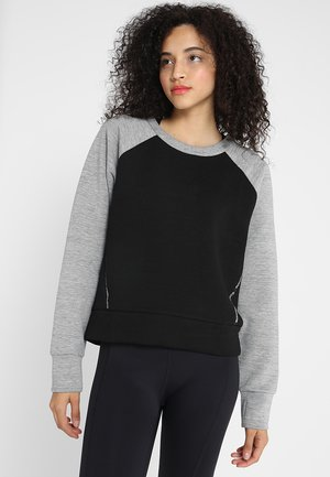 CORE GYM TECH PANEL - Sudadera - city grey marl