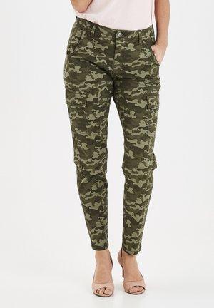 FRIVCAMO - Trousers - dark hedge