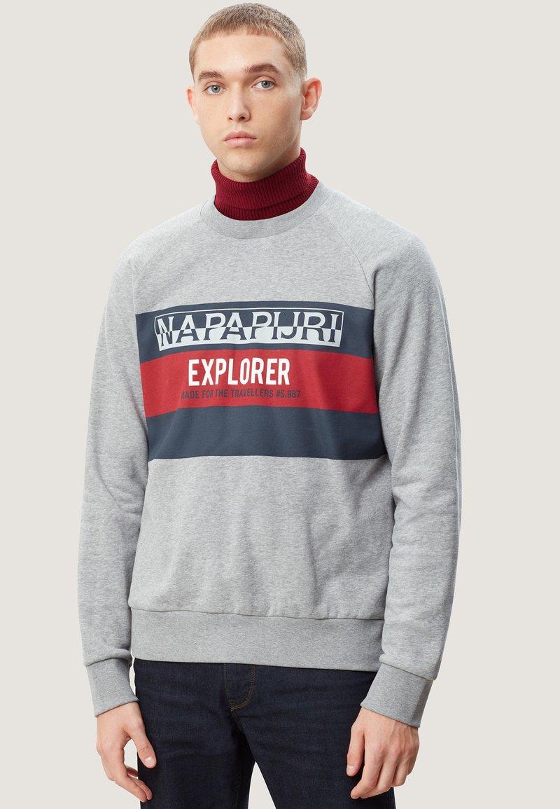 Napapijri - BOVES - Sweatshirts - med grey mel