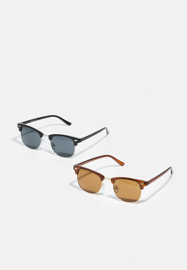 SUNGLASSES 2 PACK - Solbriller - brown stone/club black