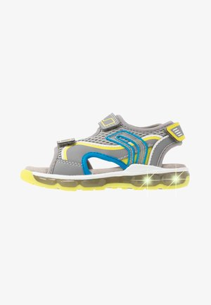 BOY - Walking sandals - grey/lime