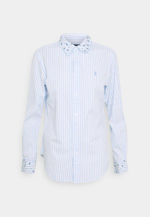 GEORGIA LONG SLEEVE - Button-down blouse - white/blue