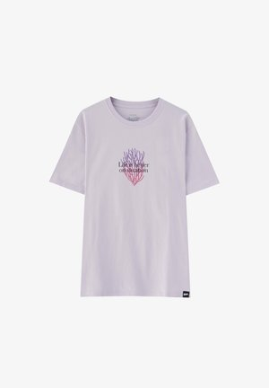 Print T-shirt - mottled purple