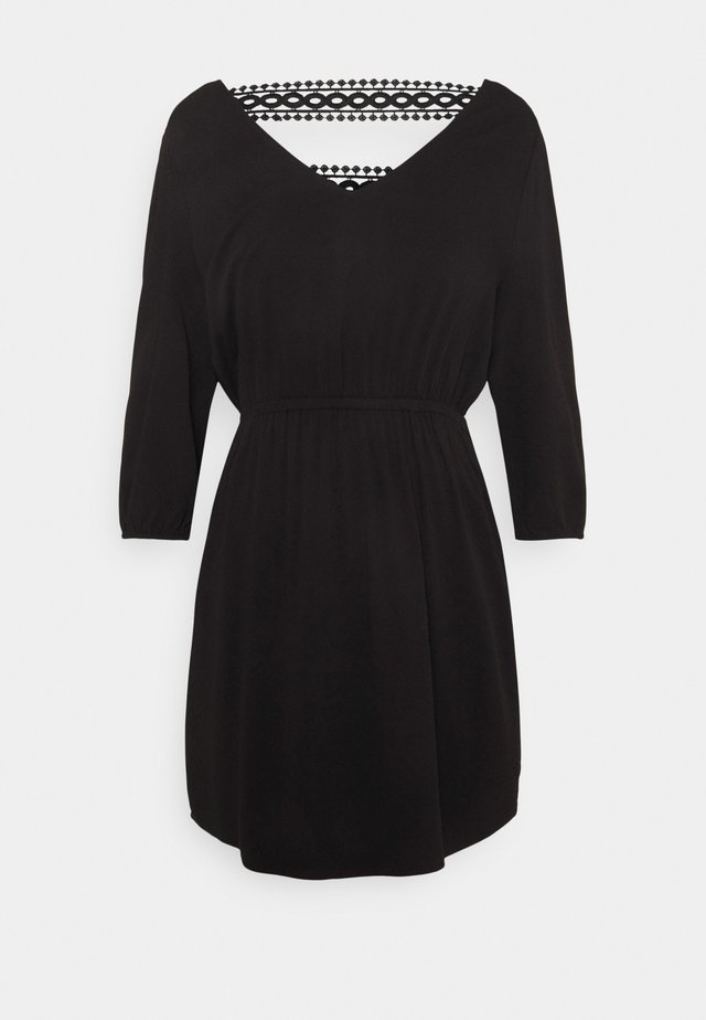 VISOMMI NEW DETAIL DRESS - Korte jurk - black