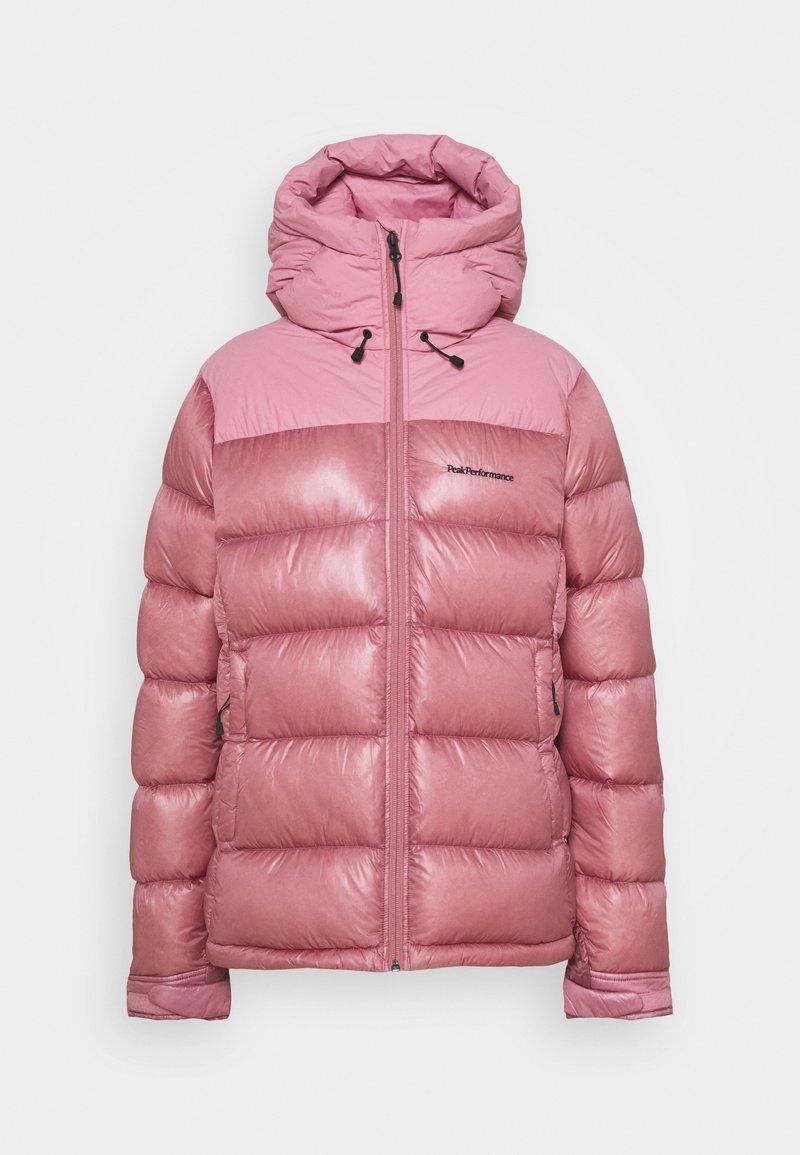 Peak Performance - FROST GLACIER HOOD - Down jacket - frosty rose
