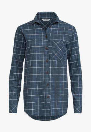Button-down blouse - steelblue
