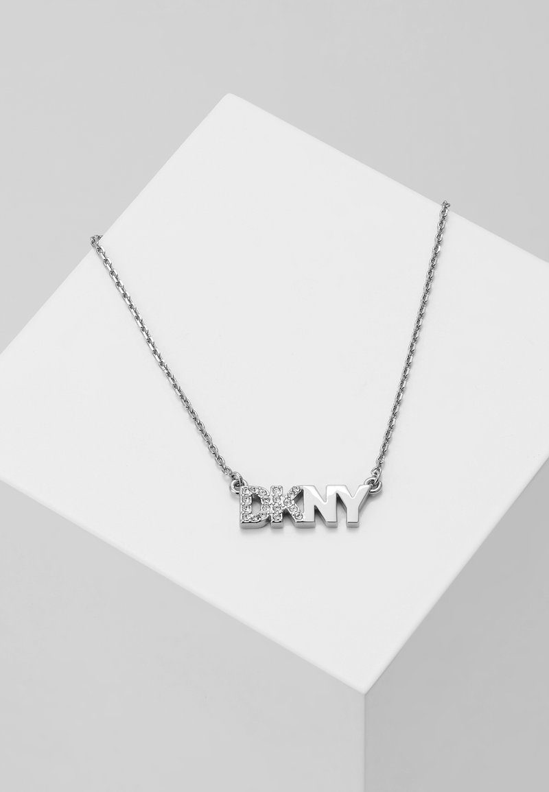 DKNY - PAVE LOGO PENDANT  - Collier - rhodium-plated