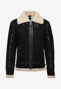 Gipsy - AIR FORCE - Leather jacket - schwarz/beige - 6