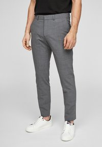 s.Oliver BLACK LABEL - MIT HYPERSTRETCH - Suit trousers - grey - 0