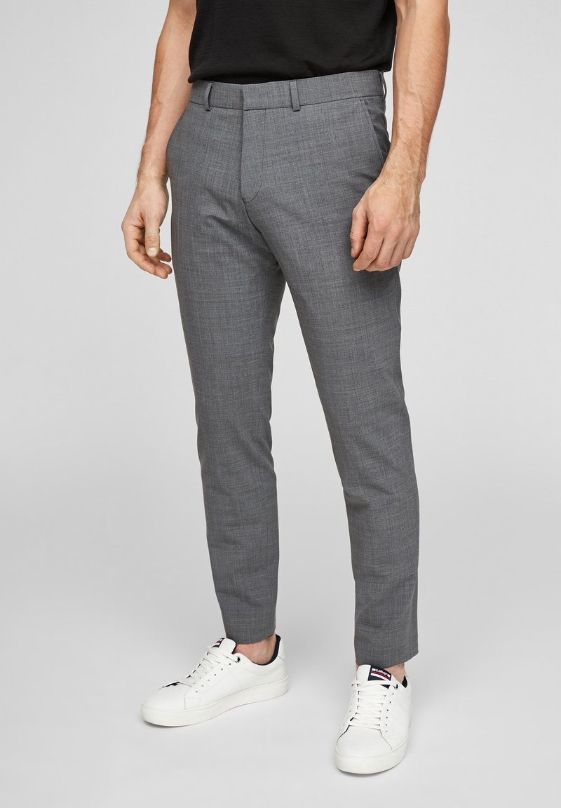 s.Oliver BLACK LABEL - MIT HYPERSTRETCH - Suit trousers - grey