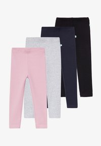 Blue Seven - KIDS WARM BASIC 4 PACK - Legging - mauve/nachtblau/nebel/schwarz - 5