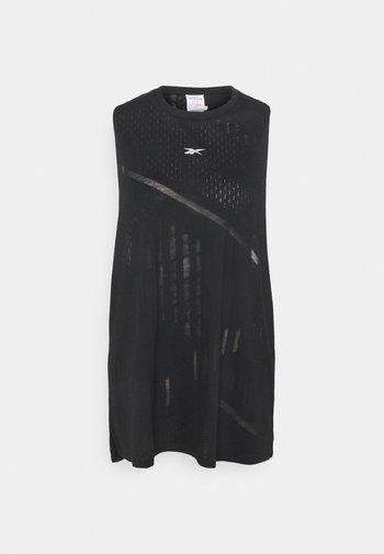 BURNOUT TANK - Sports shirt - black