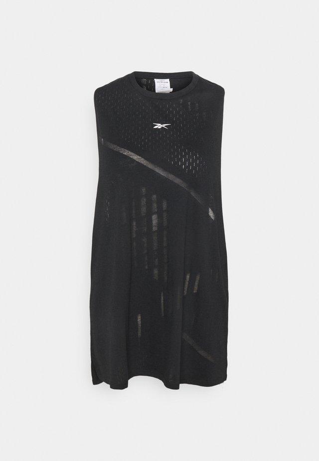BURNOUT TANK - Funkční triko - black