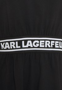 KARL LAGERFELD - LOGO TAPE DRESS - Žerzejové šaty - black - 6