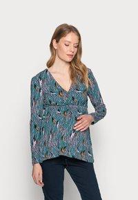 MAMALICIOUS - NURSING - Bluzka z długim rękawem - mallard blue - 0
