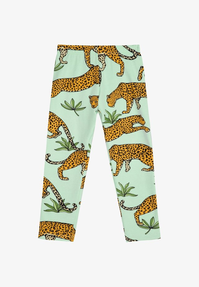 TROPICAL LEOPARD - Legging - green mist
