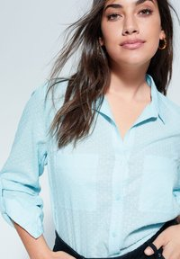 Violeta by Mango - PLANAF6 - Button-down blouse - himmelblau - 3