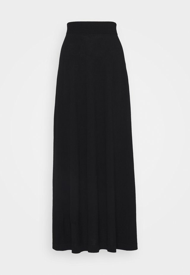 MEARA PLAIN SKIRT - Jupe trapèze - black