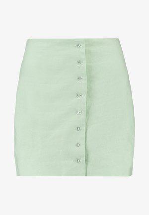 QUEEN OF JETLAGS FRONT BUTTON SKIRT - A-linjekjol - dusty light green