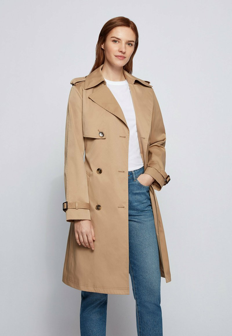 BOSS - CONRY - Trench - beige