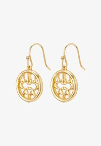 PIERCED SIG DROP EARRINGS - Earrings - gold-coloured