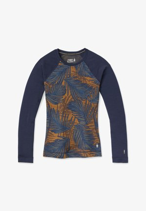 MIDWEIGHT 250 BASELAYER PATTERN CREW - Camiseta de manga larga - deep navy palm