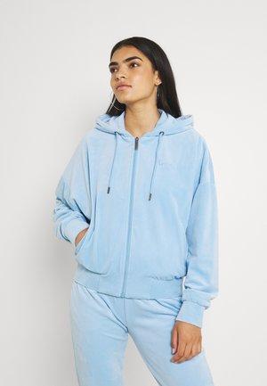 CHEST SIGNATURE JACKET - Sweater met rits - light blue