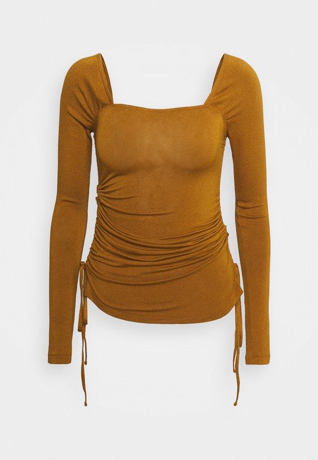 MIRA TOP - Longsleeve - brown