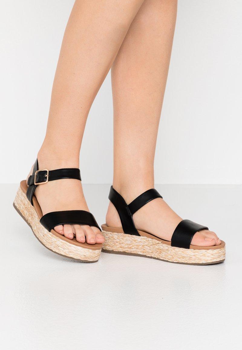 New Look Wide Fit - WIDE FIT FLAVIA - Espadrilles - black