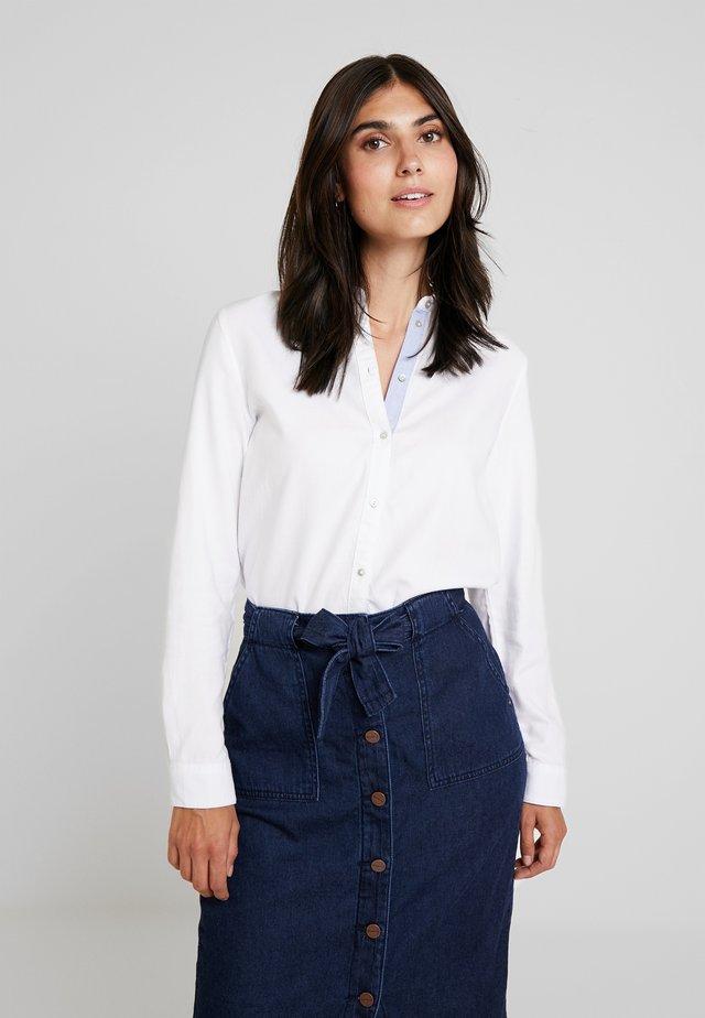 SOFT OXFORD - Button-down blouse - white