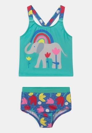 TIDAL TANKINI ELEPHANTS SET - Swimsuit - turquoise