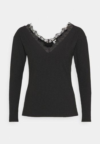 EDGE - Long sleeved top - black