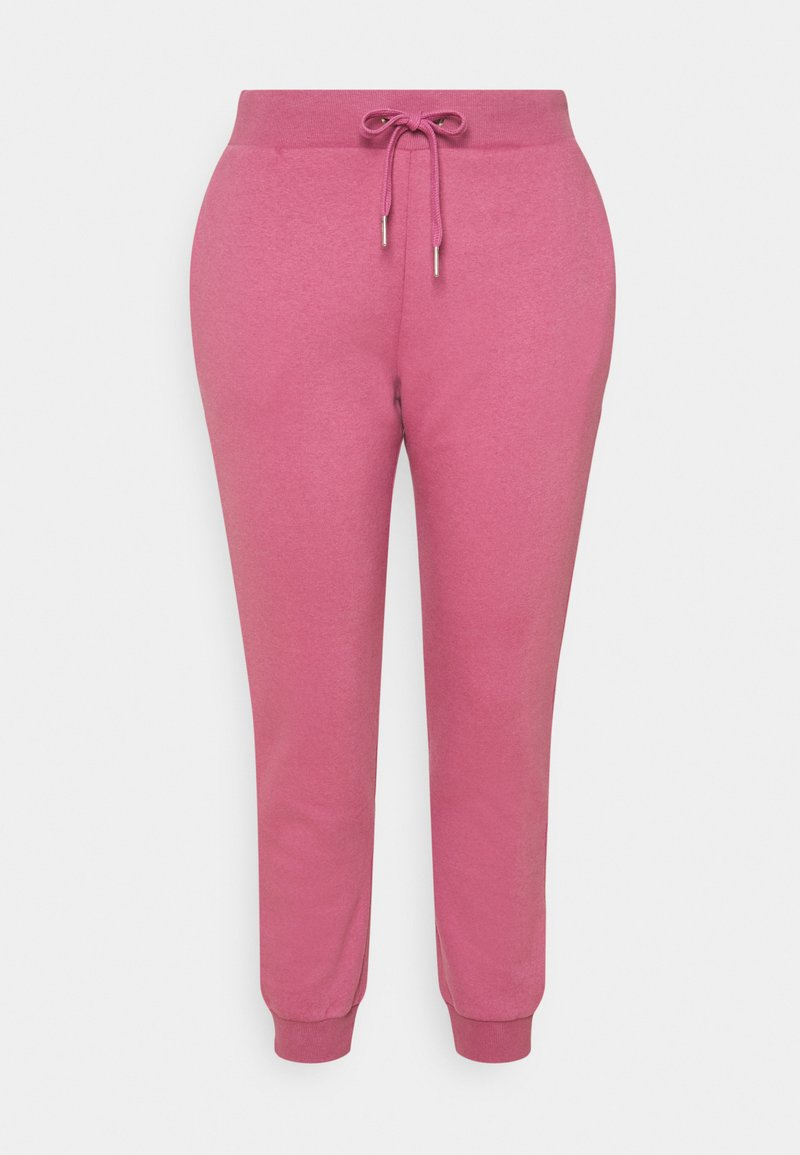 CAPSULE by Simply Be - CUFFED  - Tracksuit bottoms - raspberry
