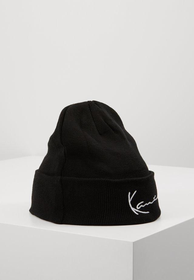 SIGNATURE BEANIE - Berretto - black
