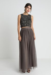 Lace & Beads - MARIKO SKIRT - Maxi sukně - stone - 1