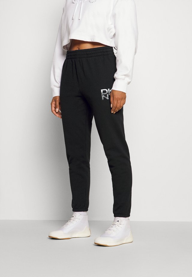 STACKED CITY LOGO HIGH RISE - Tracksuit bottoms - black