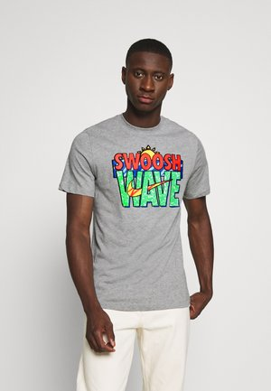 TEE SUMMER WAVE - Camiseta estampada - grey heather