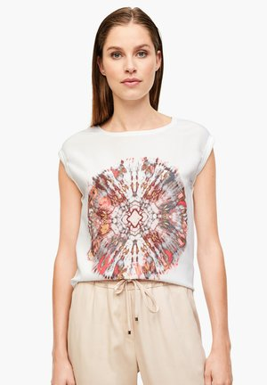 Blouse - white placed print