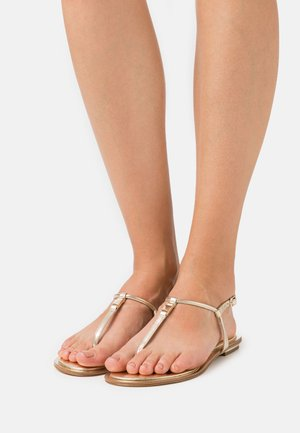 FANNING THONG - T-bar sandals - pale gold