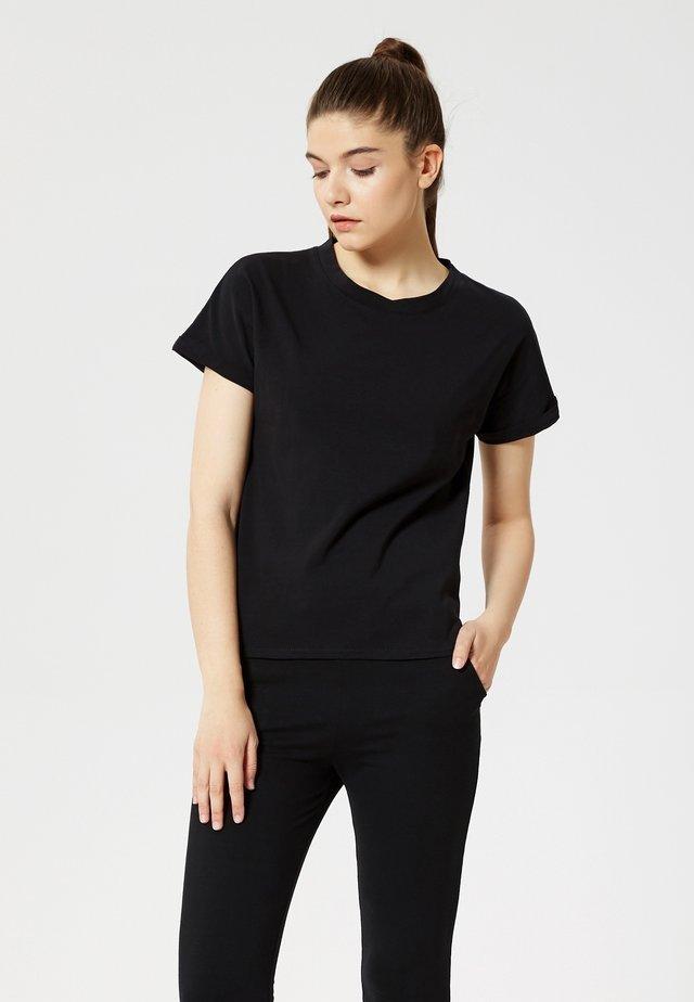 Camiseta básica - noir
