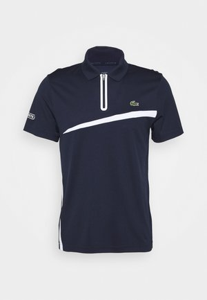 TENNIS ZIP - Polo shirt - navy blue/white