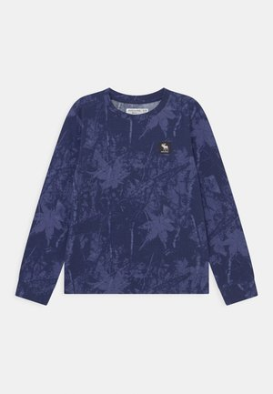 PATTERN - Long sleeved top - blue