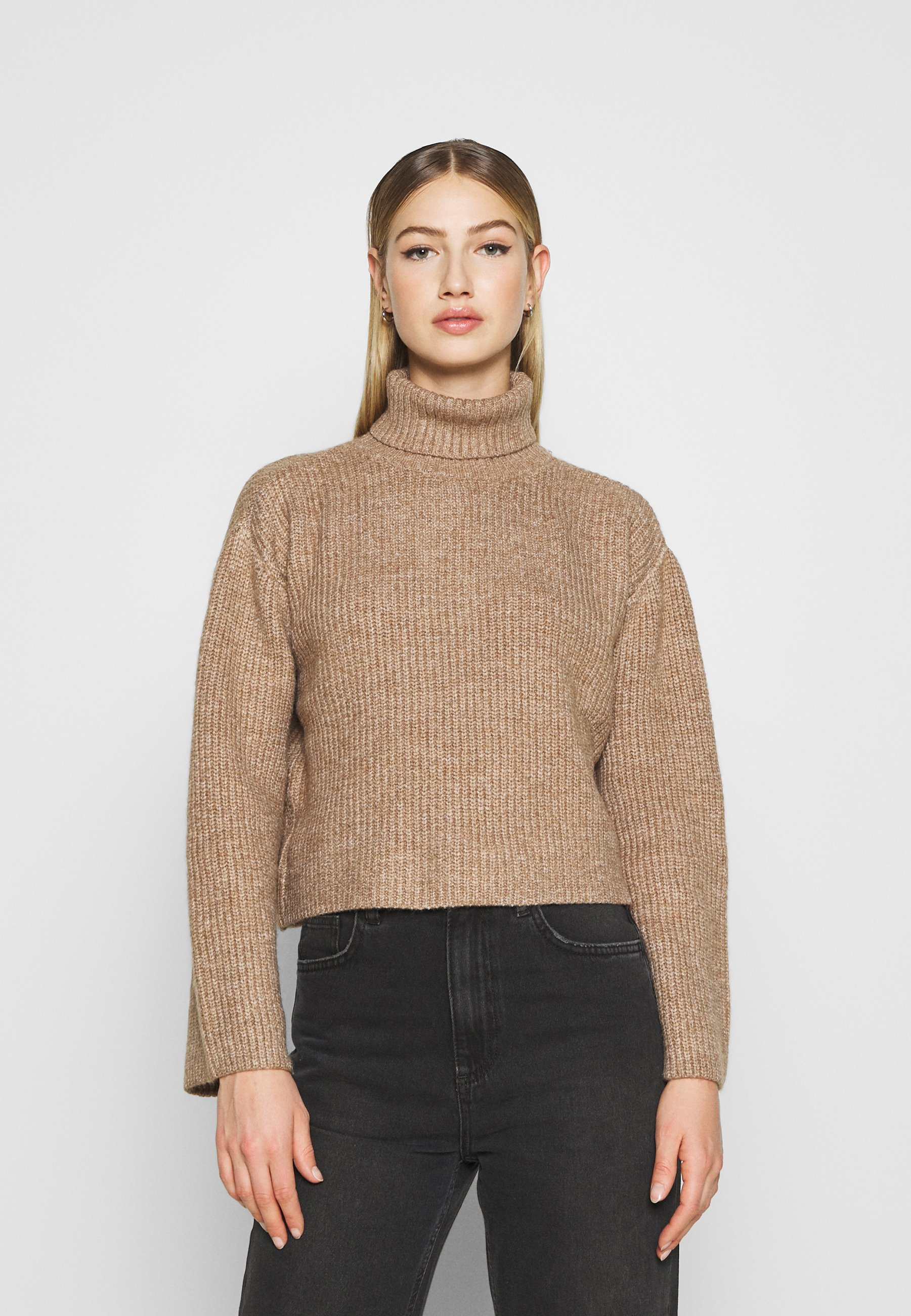 Femme CROPPED BOXY ROLL NECK - Pullover