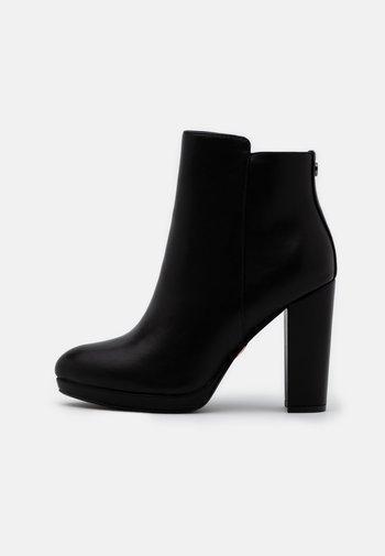 MELINDA - High heeled ankle boots - black