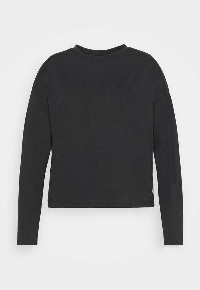 LONG SLEEVE - T-shirt sportiva - black