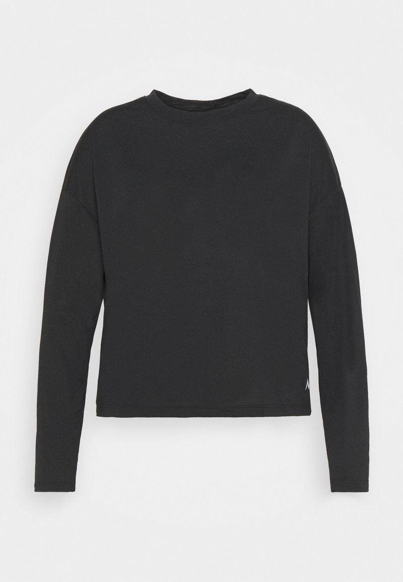 Reebok - LONG SLEEVE - Sports shirt - black