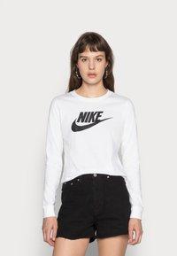 Nike Sportswear - TEE ICON - Long sleeved top - white/black - 0