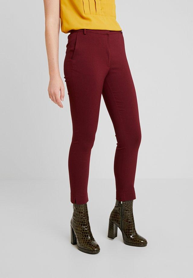 Trousers - burgundy