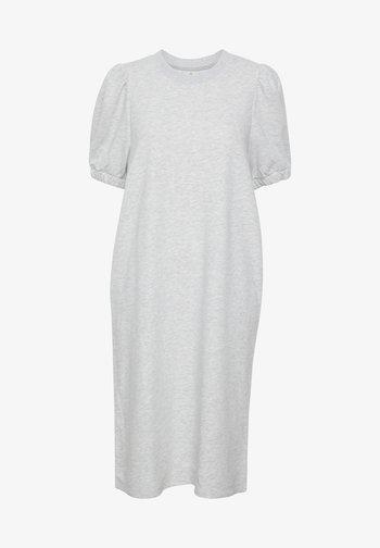 Jersey dress - light grey melange